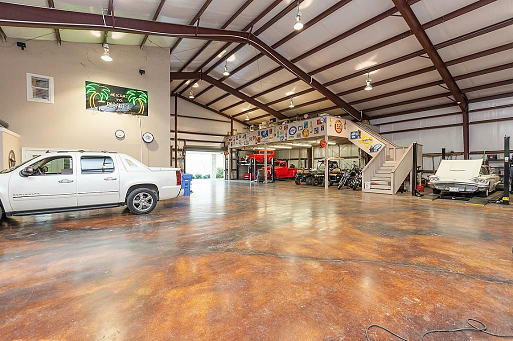 Custom heated and cooled garage space is a car collector 39 s Shops with living space