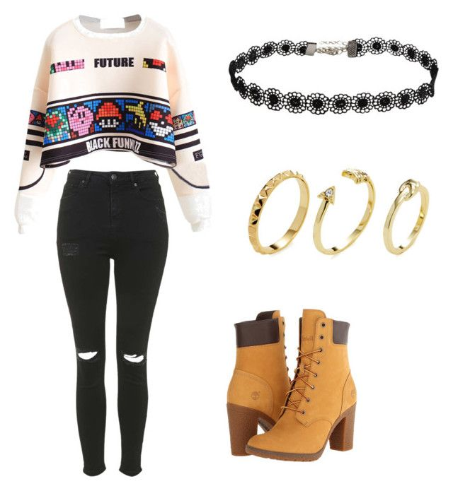 """""""Untitled #57"""" by ssck-bea on Polyvore featuring Topshop, Timberland and Pixie Grey"""