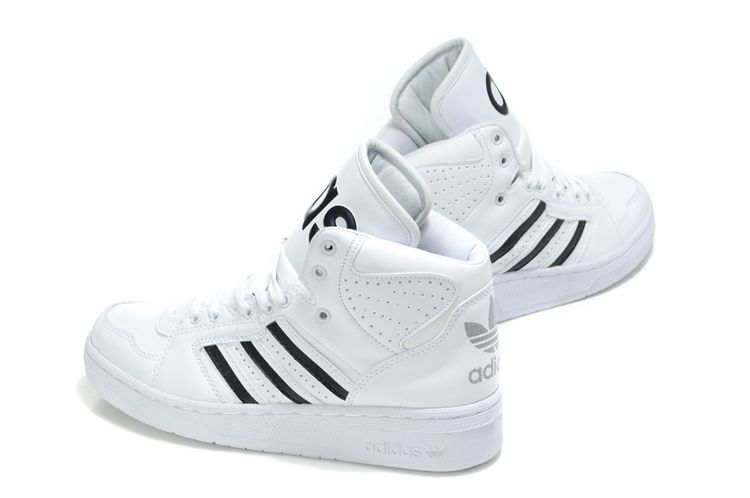 Adidas High Tops for Girls  White Adidas High Tops Big Tongue Shoes men  women