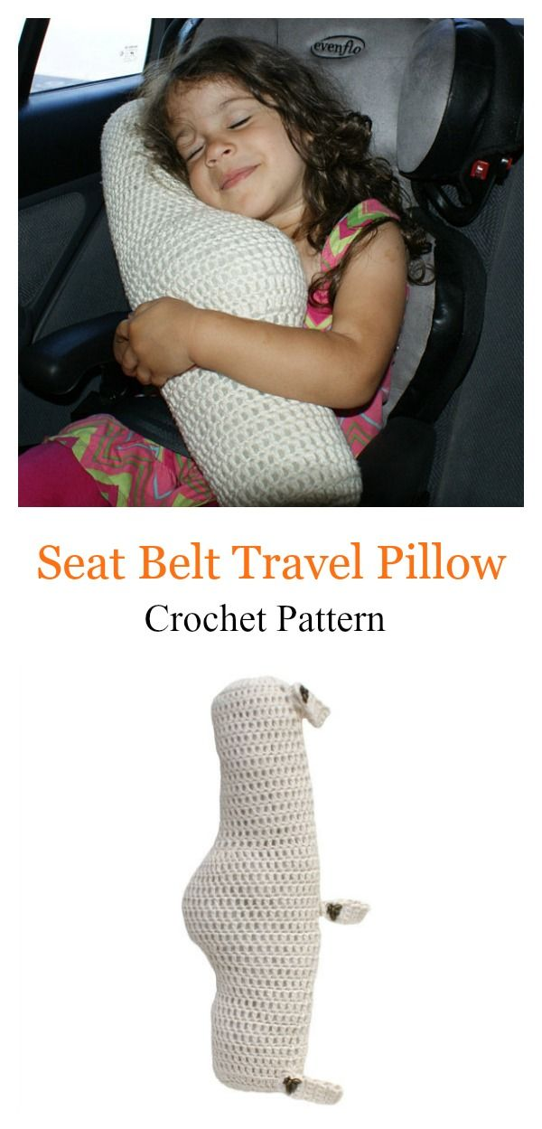Seat Belt Travel Pillow Crochet Pattern   manualidad   Pinterest ...
