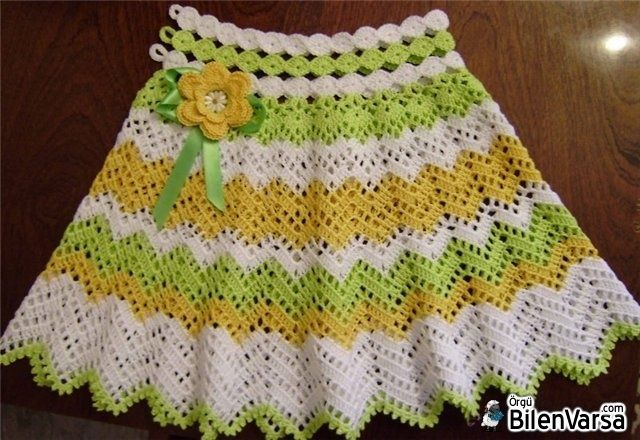 Tığ işi çocuk elbisesi yapımı - Google\'da Ara   Falda   Pinterest ...