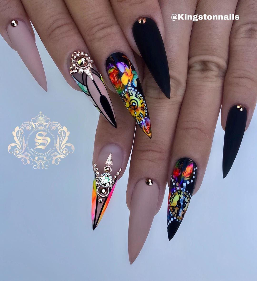 "Most Dope Ink: Kingston-CEO Of Stiletto Nails On Instagram: ""Timing"
