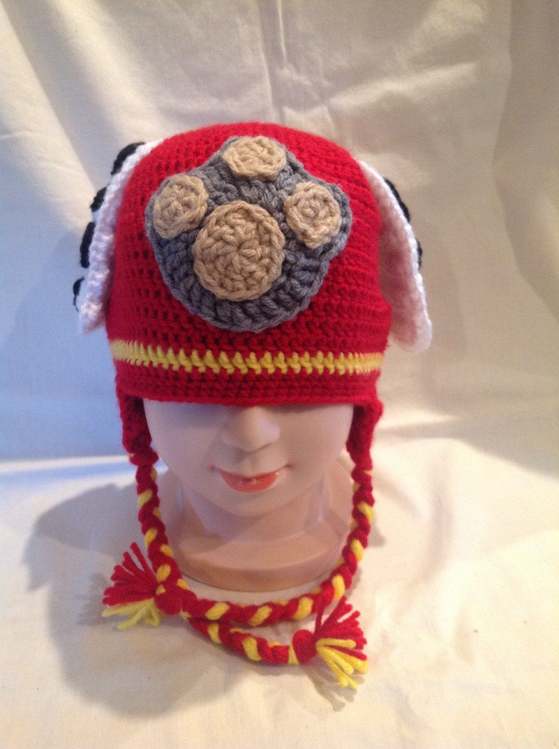 Crochet Paw Patrol Marshall inspired hat by ComfyNCozyBoutique on ...