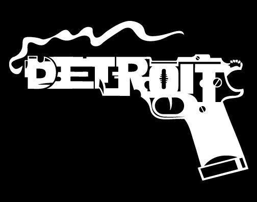 9mm Detroit Gun On Black T Shirt 100 Cotton On Etsy 1299
