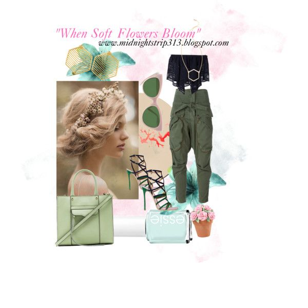 The beauty of Spring by starrion on Polyvore featuring polyvore, fashion, style, Chloé, Faith Connexion, Dsquared2, Rebecca Minkoff, Kasturjewels, MARC BY MARC JACOBS, Jennifer Zeuner and Essie