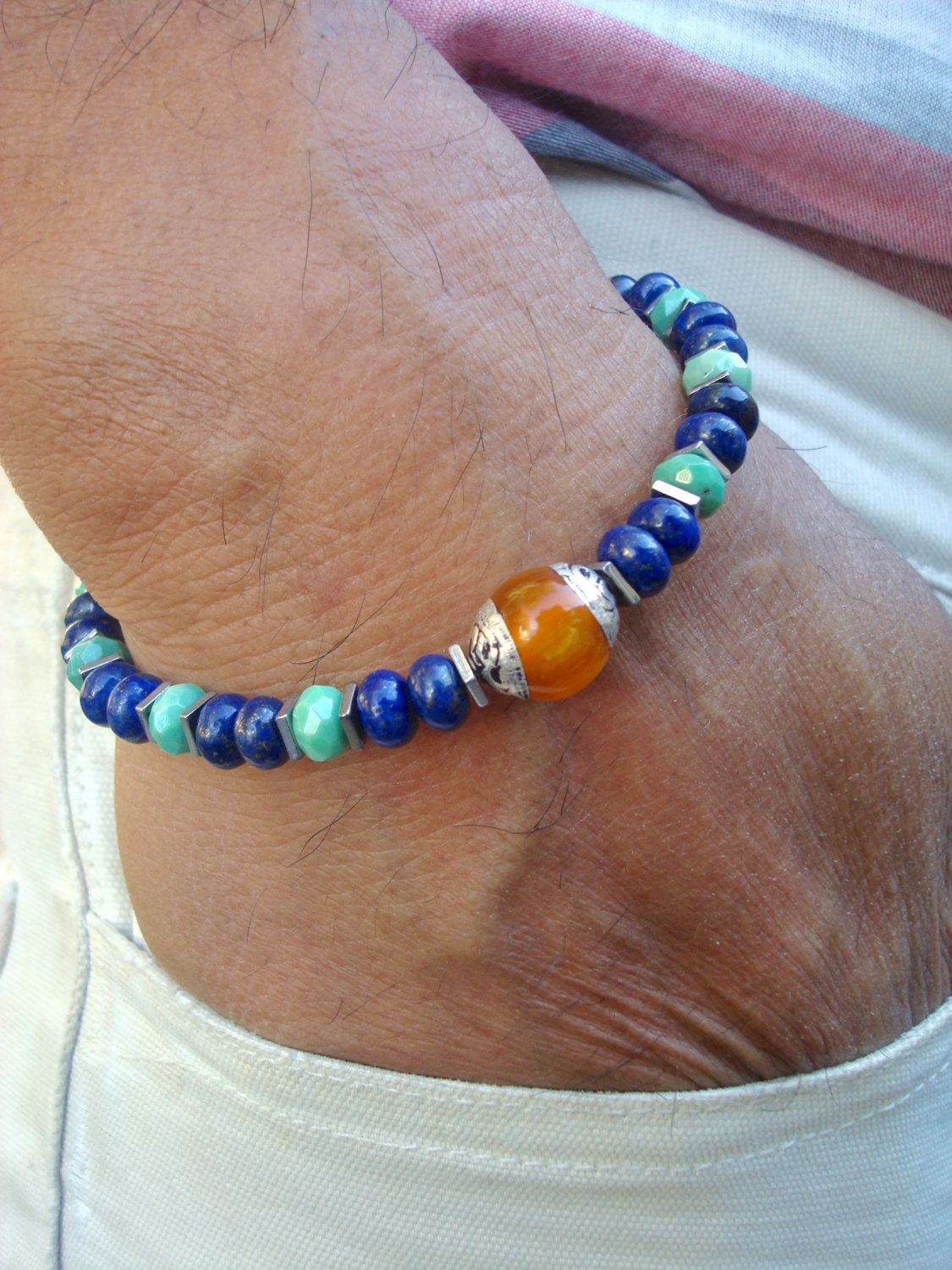 Menus spiritual healing protection friendship bracelet semi