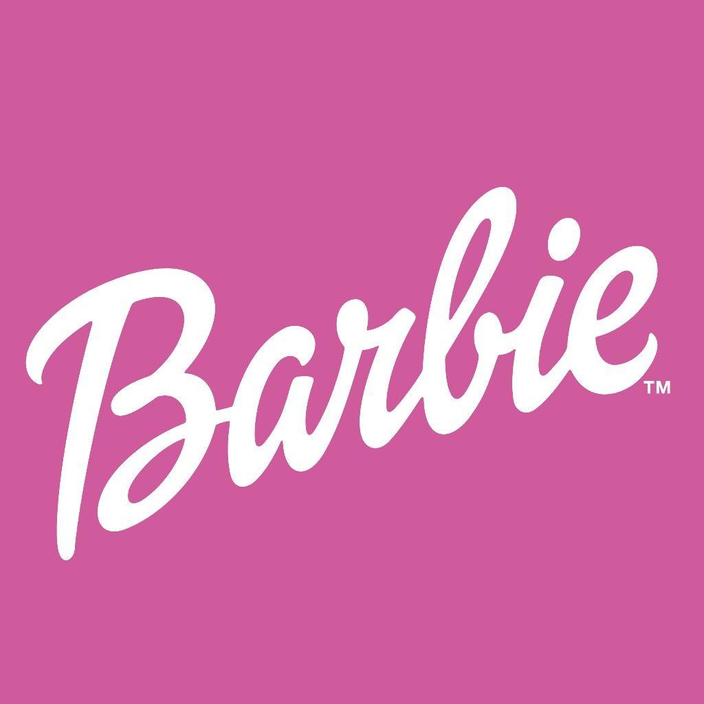 Pink amd white logo Barbie logo, Barbie party, Pink logo