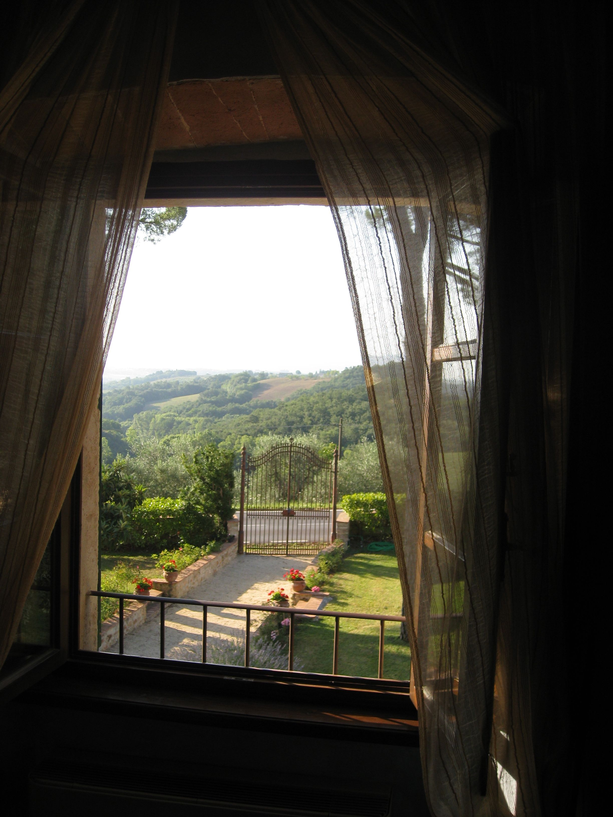 View from our room, Chianti region of Italy.