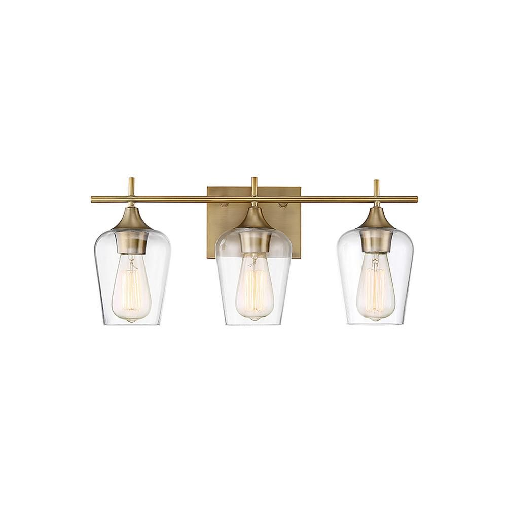 Filament Design 3-Light Warm Brass Bath Light | Bath light, Bath and ...