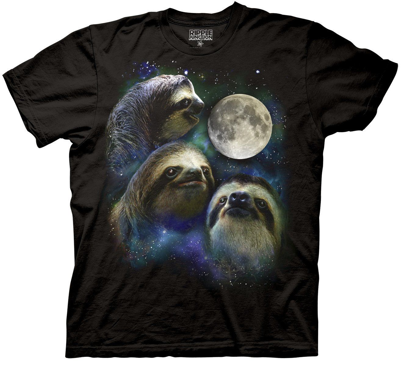 three wolf moon shirt parody three sloth moon shirt. Black Bedroom Furniture Sets. Home Design Ideas