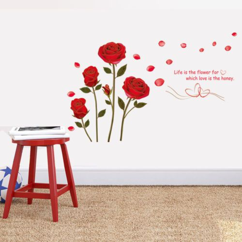 Flower #removable art wall stickers quote #vinyl decal mural living room #decor d,  View more on the LINK: http://www.zeppy.io/product/gb/2/311710883745/