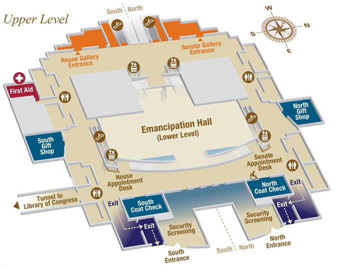 Capitol Visitor Center Upper Level Map | trip to washington ...