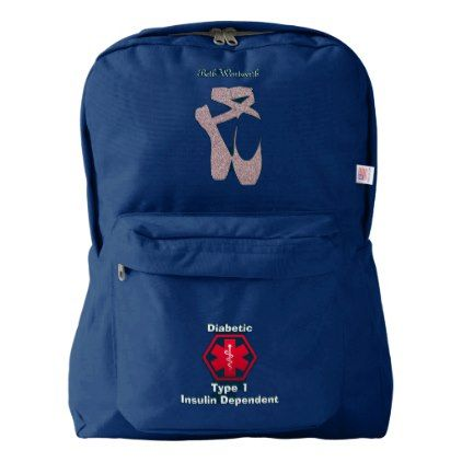 Personalized Diabetes Ballet Medi Alert Backpack - unusual diy cyo customize special gift