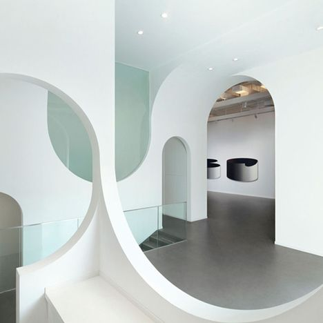 Hongkung Museum Of Fine Art Gallery Curved Interior Archways By PendsThe Designers Based The Forms On Mountains And Valleys Depicted In Typical Chinese
