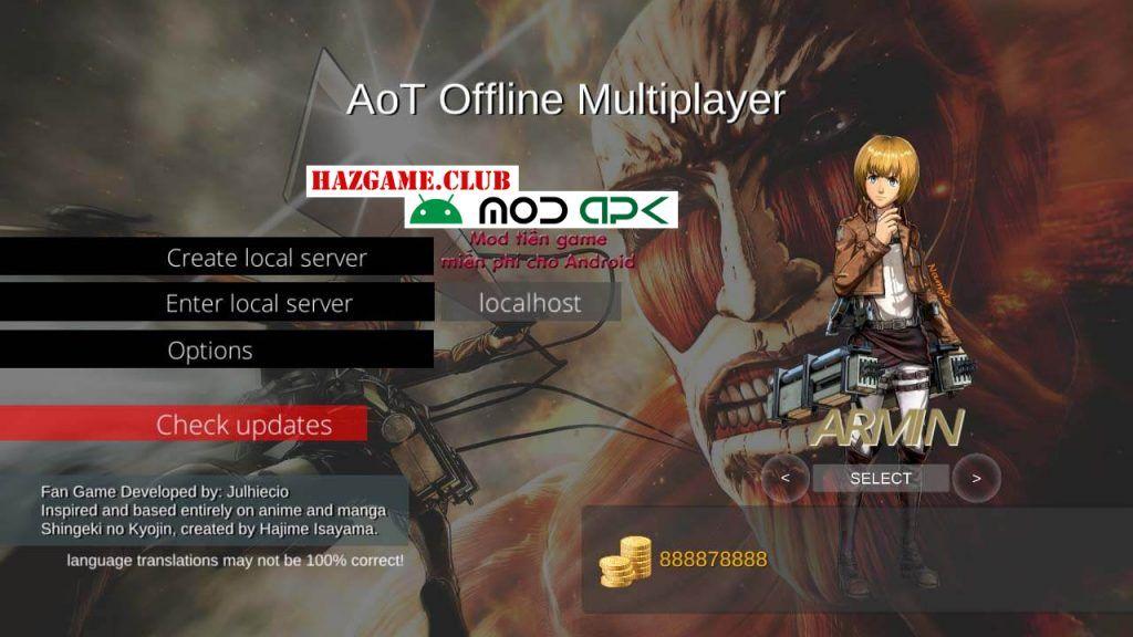 Attack On Titan Offline MultiPlayer Mod Apk - Attack On
