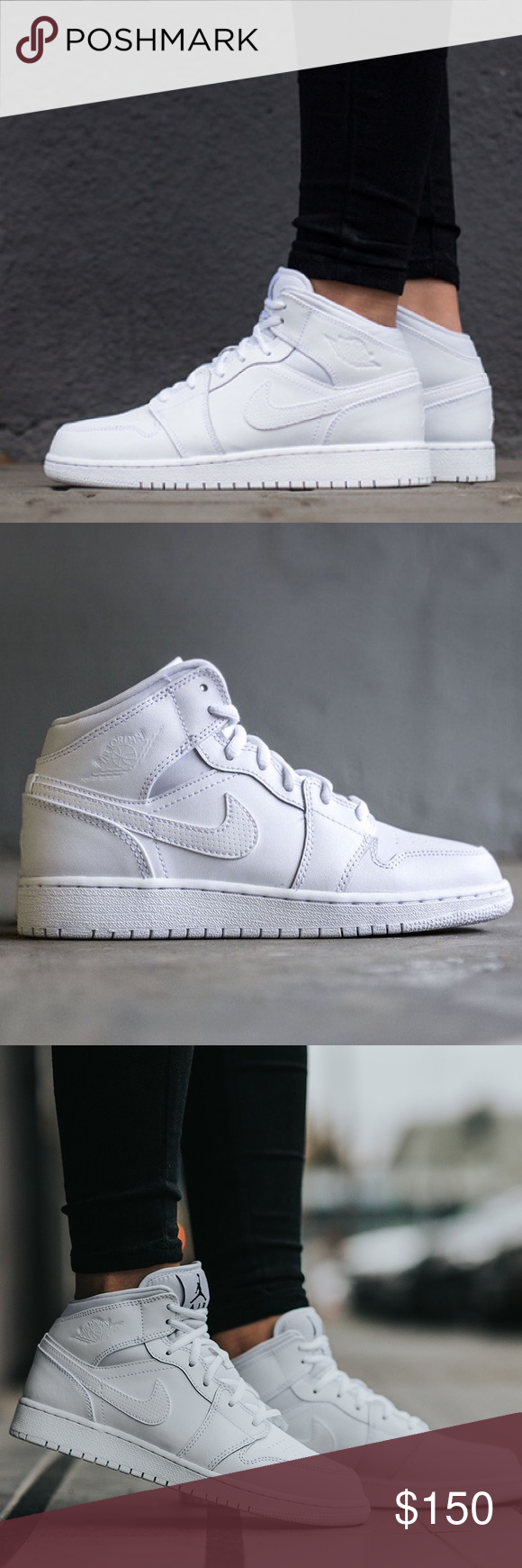 new styles 783f0 24e75 Nike Air Jordan 1 all white women's size 8 shoes Brand new ...