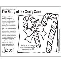 The Story of the Candy Cane coloring sheet (and other