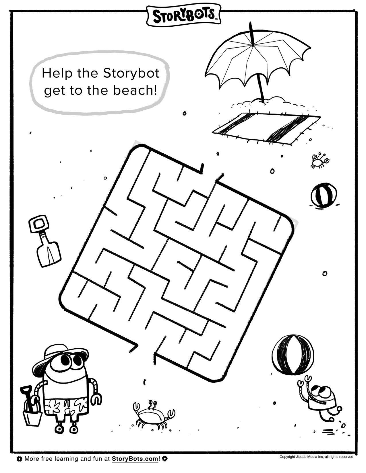 medium resolution of Summer Maze   퍼즐