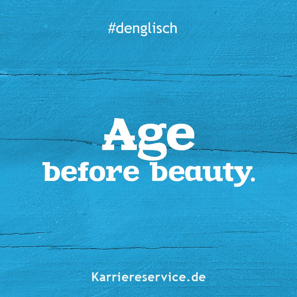 Alter vor schönheit