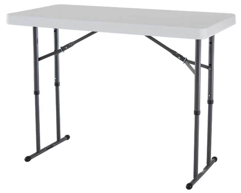 Lifetime folding table with adjustable height legs - Camping table adjustable height ...