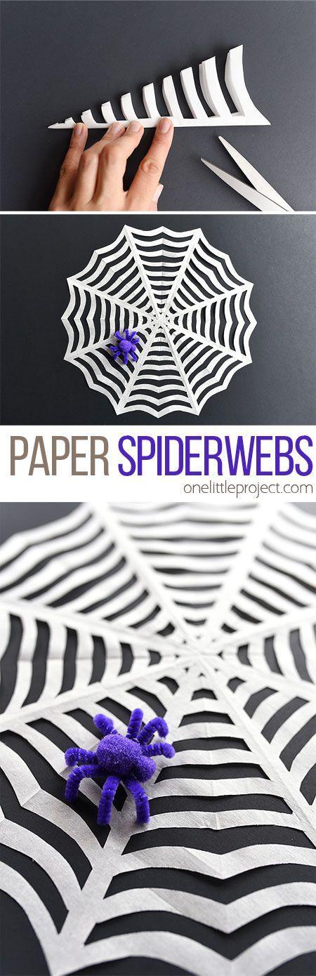 PAPER SPIDERWEBS Craft Ideas Pinterest Fun halloween crafts
