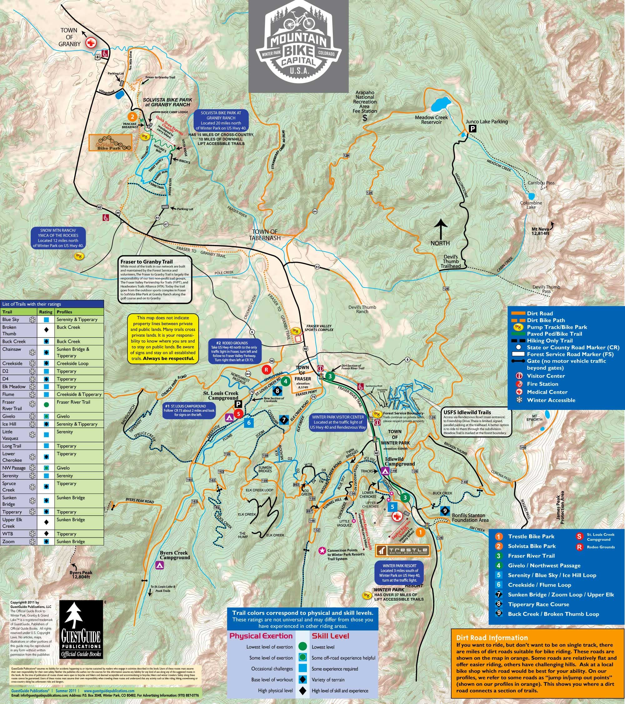 Check Out This Map Of The Winter Park Area Often Called Mountain