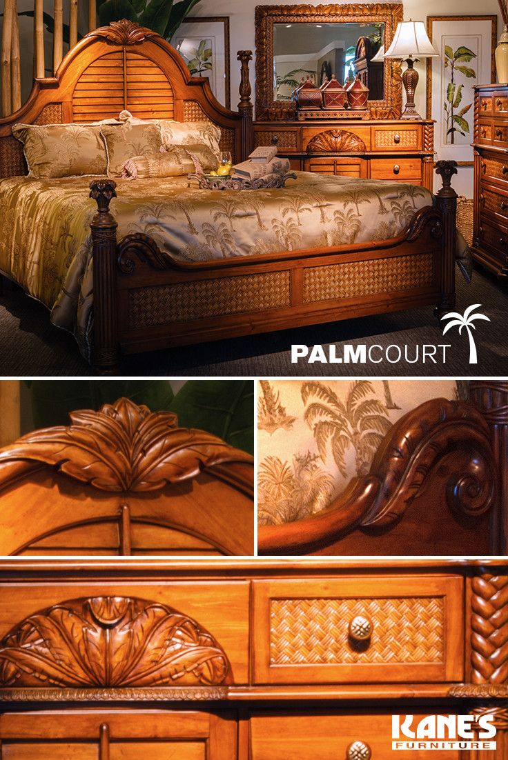 Delicieux Enter A Tropical Style Sanctuary With The Exquisite Beauty And  Craftsmanship Of The Palm Court Bedroom Set. Each Piece Is Meticulously  Fashioned From Pine ...