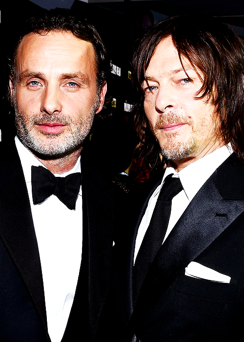 """Norman and Andrew at AMC's """"The Walking Dead"""" Season 6 Fan Premiere Event at Madison Square Garden on October 9, 2015"""