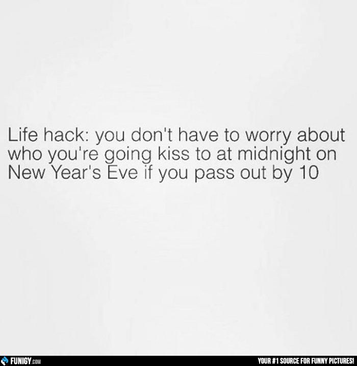 New Year\'s Life Hack (Funny Misc Pictures) - #kiss #life hack #new ...