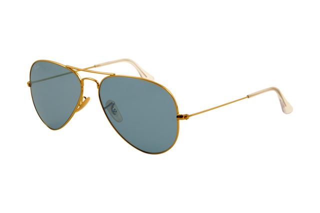 Marco del oro Ray Ban Aviator RB3025 gafas de sol de cristal azul de la  lente ABM 2aa2399f47