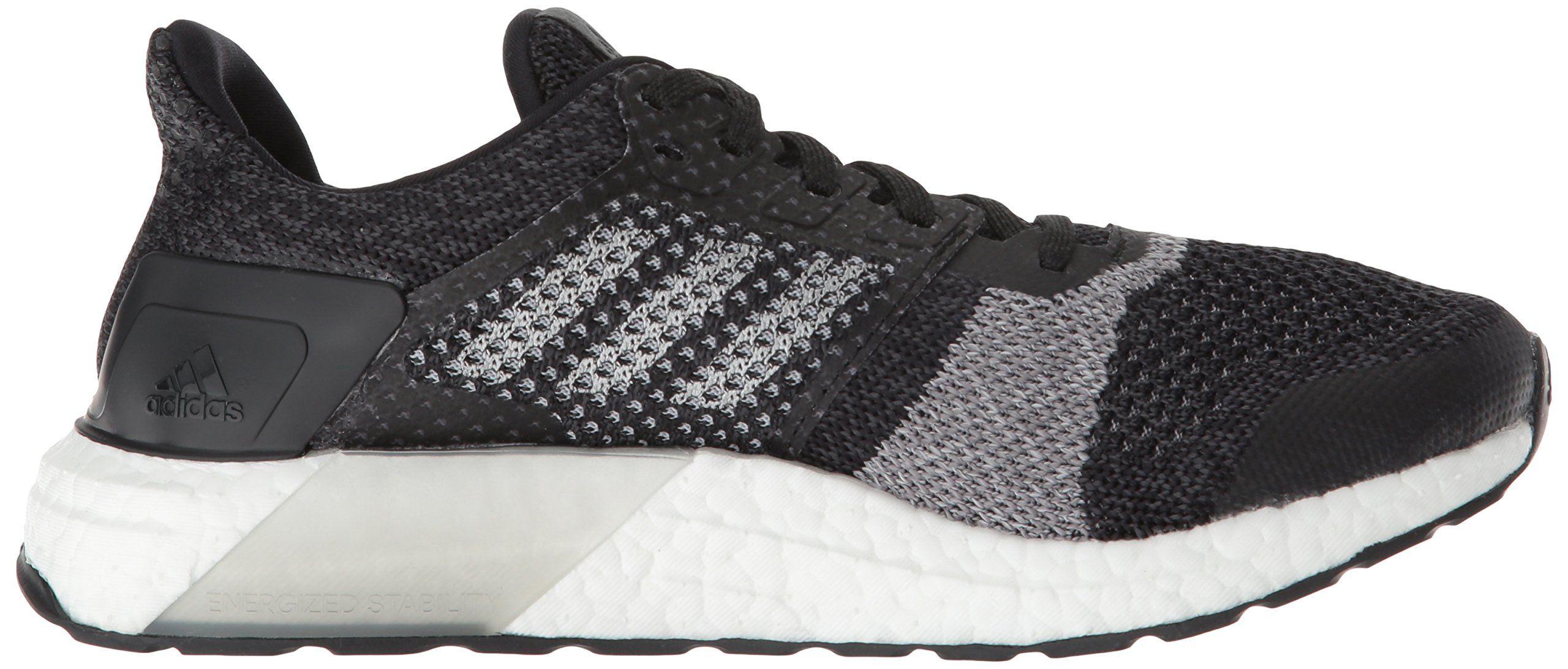 watch 1cf65 91e19 adidas Womens Ultraboost ST Running Shoe Black Silver Metallic Carbon 9.5 M  US -