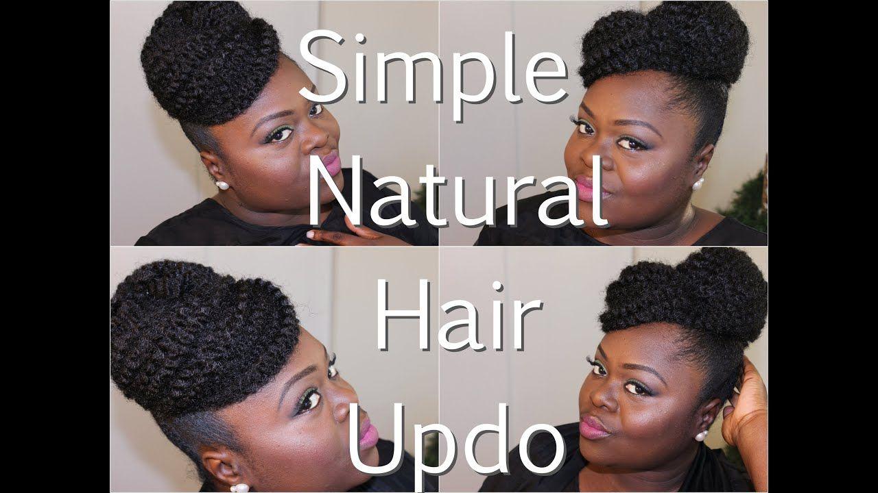 Natural Hair Simple Updo Using Marley Hair Tutorial Youtube Natural Hair Updo Natural Hair Styles Marley Hair