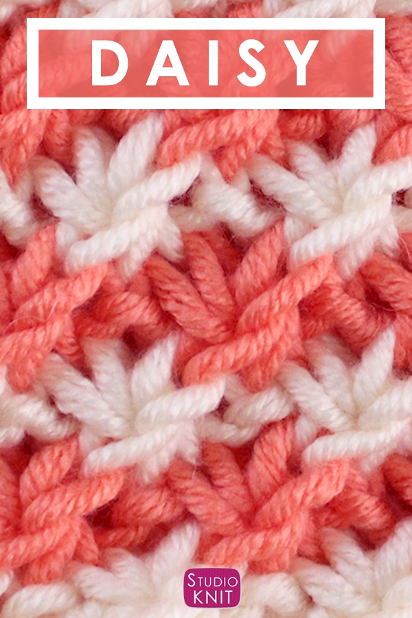 How to Knit the Daisy Flower Stitch Pattern