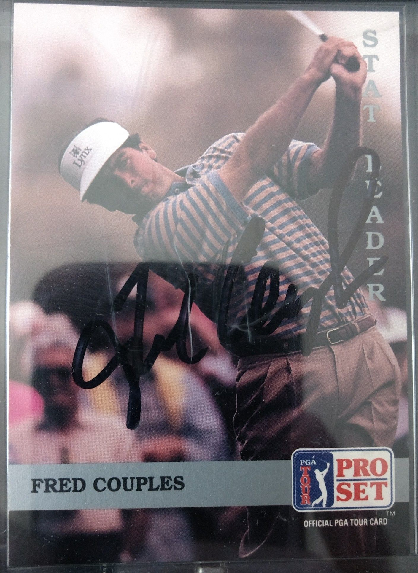 Professional Pga Golfer Fred Couples Autographed Card Fred