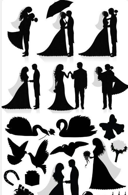 Novios Scherenschnitt Hochzeit Portrait Silhouette Hochzeit Silhouette