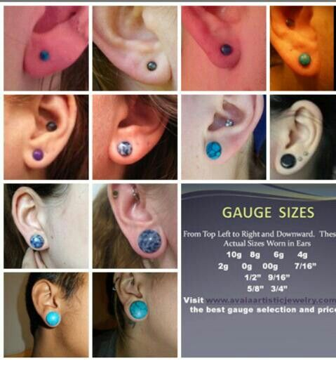 The 14 Weirdest Things People Put In Their Gauges Ear Gauge Sizes Ear Gauges Plugs Gauges Size Chart