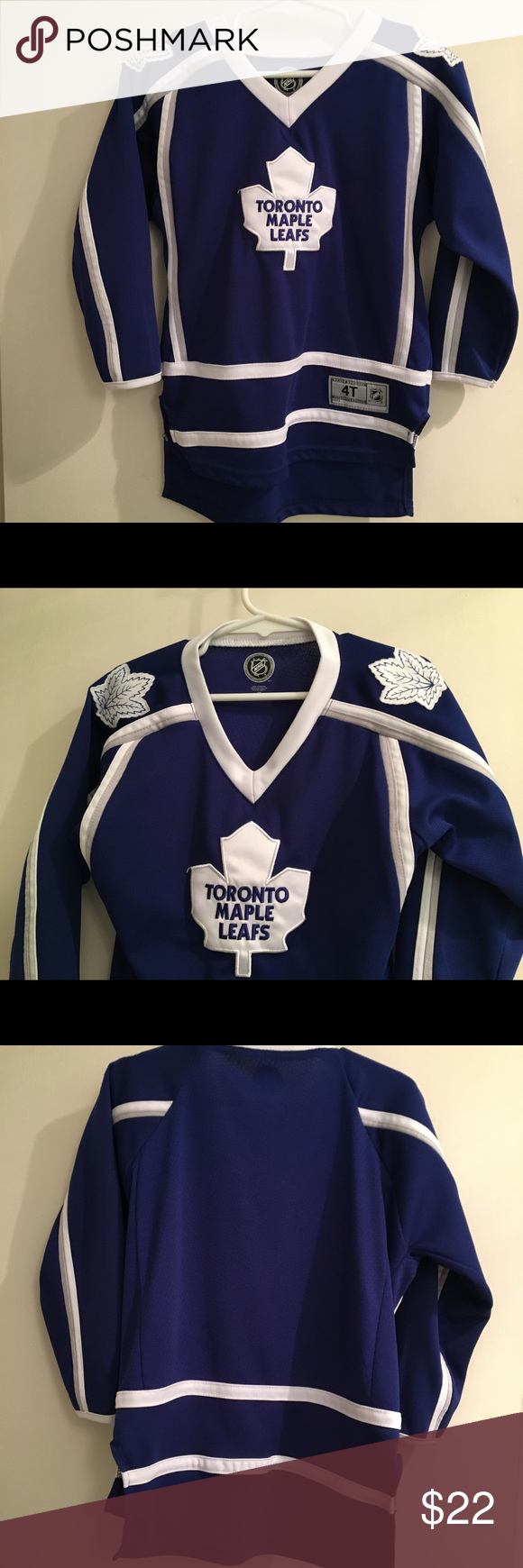 fa1c6d16b NHL Toronto Maple Leafs Jersey EUC Toronto Maple Leafs Jersey - 4T. Perfect  for your young fan, be they a boy or girl! Buy now and wear for the next  game!