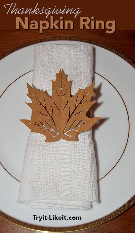 Thanksgiving Napkin Ring | Napkin rings, Crafts ...