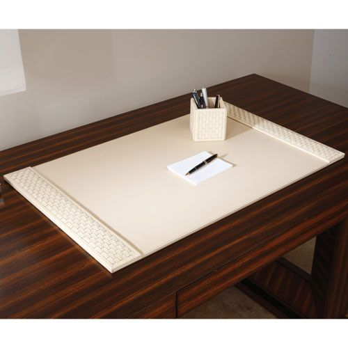 Global Views Woven Ivory Desk Blotter is part of Home Accessories Luxury Beverly Hills - Wood Type MDF Care Instructions Dust with dry cloth