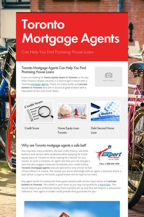 Toronto Mortgage Agents Private Lender Mortgage Home Equity Loan