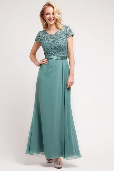 Mother The Bride Dress 1922 Silver Sage Champagne Mauve Teal Blk