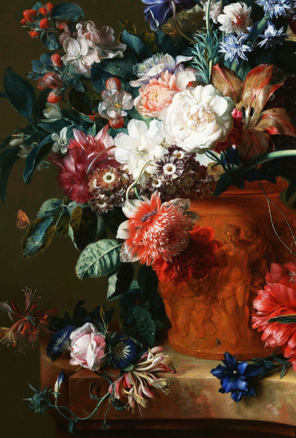 Bouquet of flowers in a terracotta vase 1722 detail fine arts bouquet of flowers in a terracotta vase 1722 detail izmirmasajfo