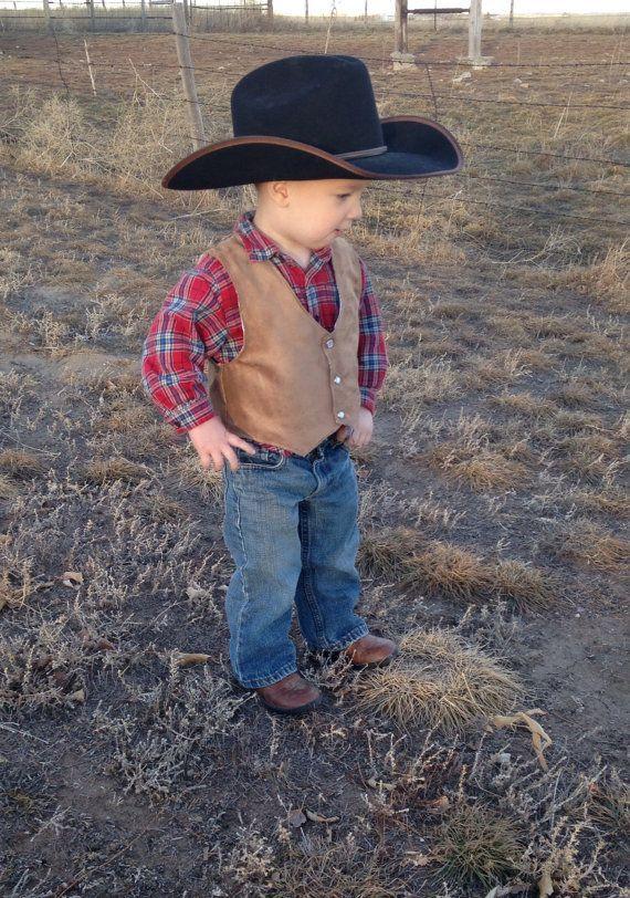 Vest infant baby toddler western wedding cowboy by lilwesternworks & Vest infant baby toddler western wedding cowboy costume western ...