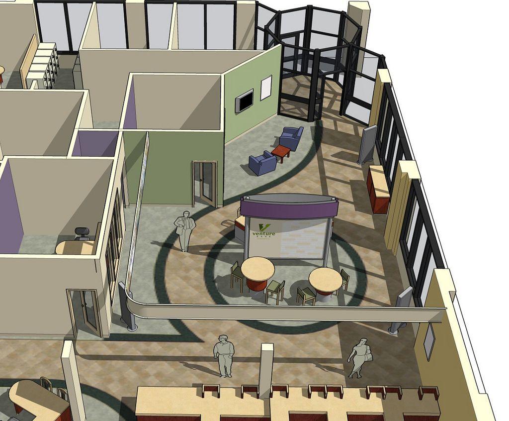 Bank Space Planning | 3D Bank Design | Bank Decor Design | Interior Bank  Dcor |