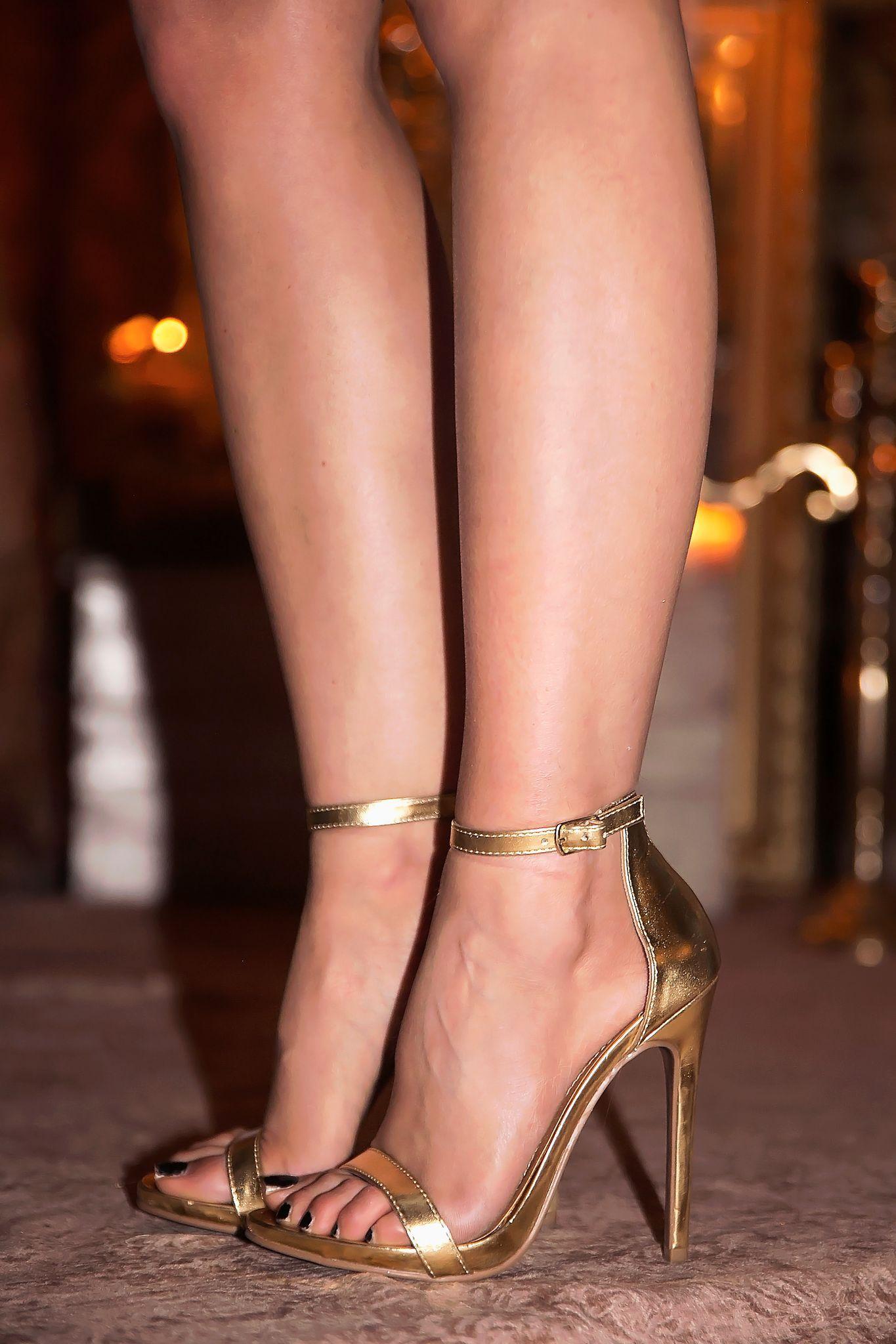 Celine Ankle Strap Heel Gold Only Size 6 Left Best