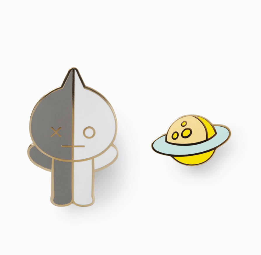 BT21 Official Merchandise by Line Friends Character Metal Pin Badge