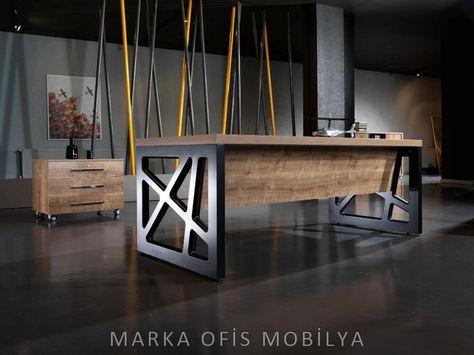 La création de meubles en bois Brut et Métal pour les Grands Espaces - meuble en fer design