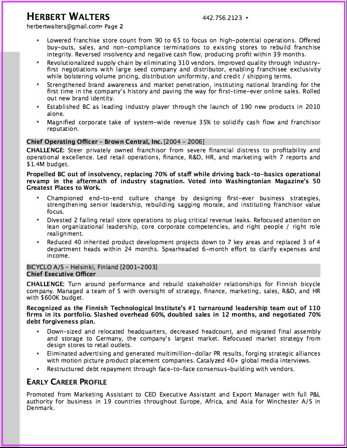Senior Operations Executive Resume  HttpExampleresumecvOrg