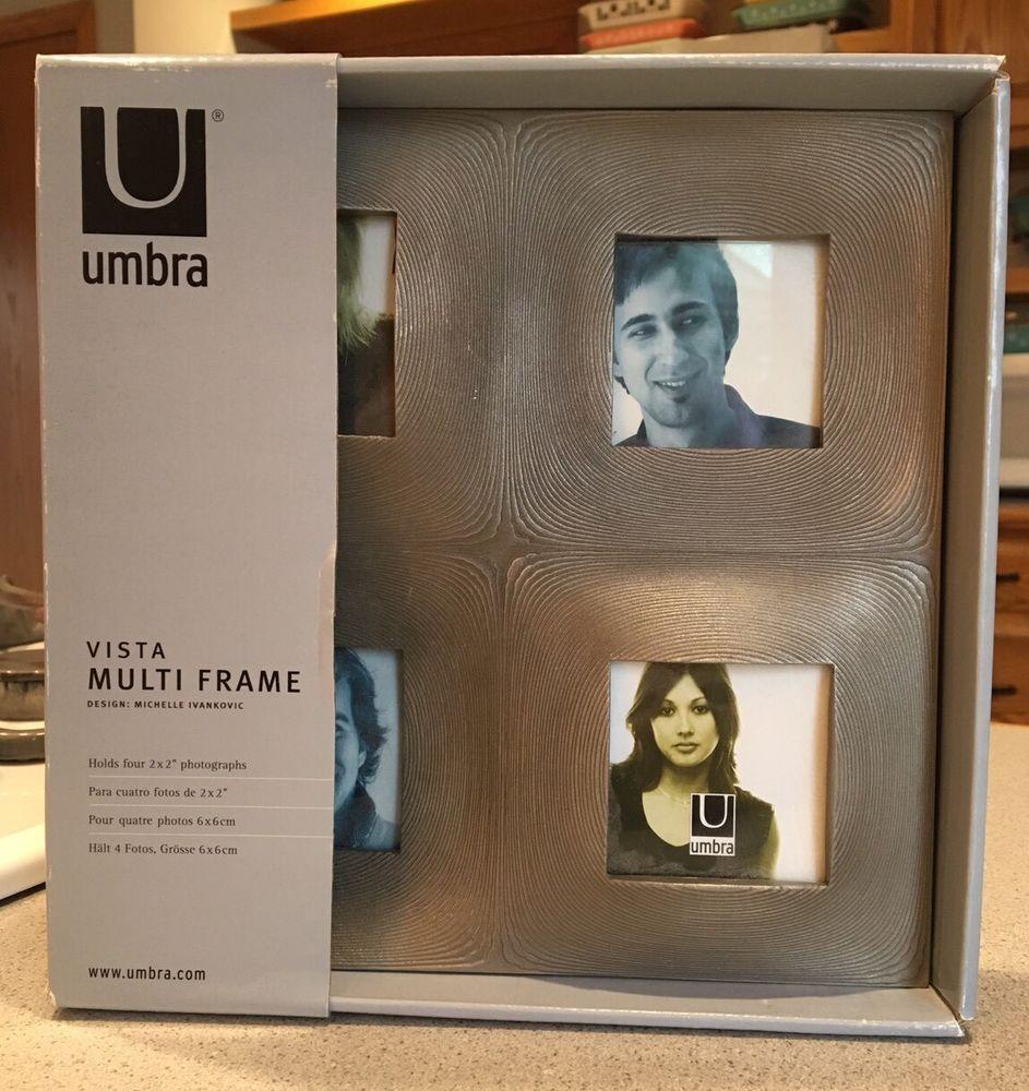 Umbra Multi Frame Sliver Holds 4 2 X 2 Photographs Unique Picture ...