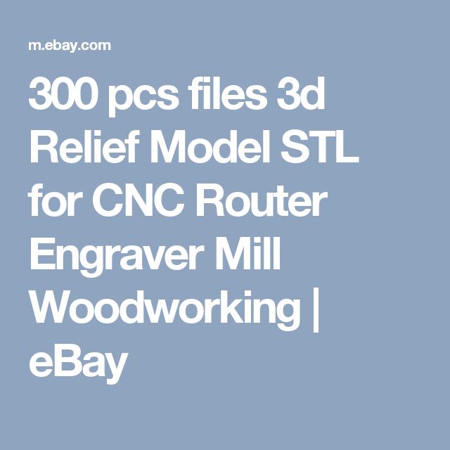 300 pcs files 3d Relief Model STL for CNC Router Engraver